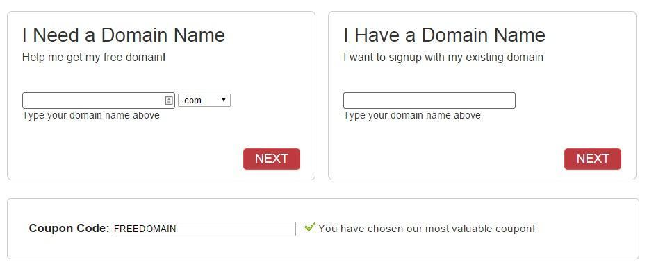Complete your domain information.